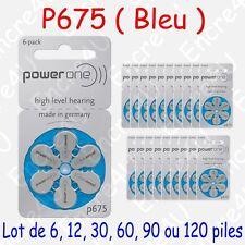 Piles auditives PowerOne P675 compatible Duracell EasyTab Da675h