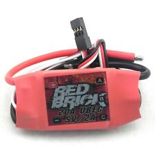 Red Brick 20A Brushless ESC with 5V 2A UBEC for RC Helicopter Airplane Quad I
