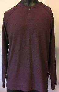 Outdoor Life Mens tech Henley Performance Long Sleeve Tee Size L