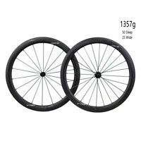 ICAN AERO50 Carbon Road Bike Wheelset 1357g Clincher Tubeless Ready in the USA