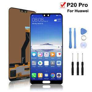 For Huawei P20 Pro LCD Display Touch Screen Digitizer Replacement Black + Tools