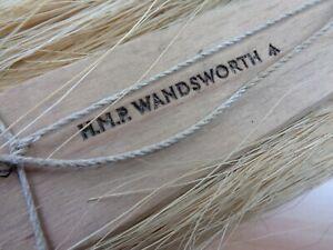 Vintage HMP WANDSWORTH - PRISON BRUSH - Twin Head (Goat Hair & Copper Wire)