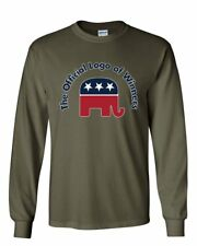 The Official Logo of Winners Long Sleeve T-Shirt Republican Party Elephant Tee