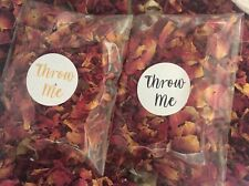 25 Rose Petal Confetti Packets Natural Dried Real Biodegradable Wedding Confetti