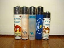 5 ACCENDINI CLIPPER CAMEL CIGARETTES BRAND-LIGHTERS-MECHEROS-BRIQUET-FEUERZEUG