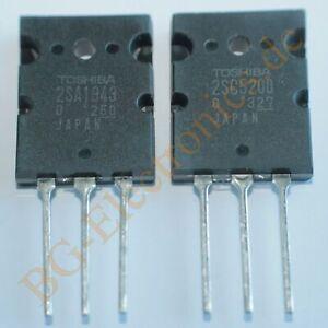 2 x 2SA1943 & 2SC5200 4 komplementäre Transistoren 150W -15A -230V  Toshib  ...