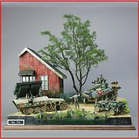 WW2 1/35 Scale Military Model Kit German Soldier Model Kits Shelter House DIY