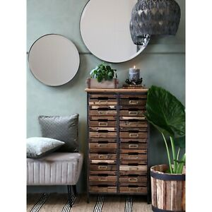 Wooden Drawers Cabinet Rustic Style Chest Of Drawers Distressed Industrial Style