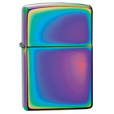 More details for zippo spectrum windproof lighter plain slim compact design refillable multicolor