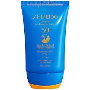 Shiseido Ultimate Sun Protector Cream SynchroShield For Face SPF50 2oz / 50ml