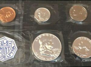 1956 Proof Set Original Envelope 90% Silver US Mint 5 Coins