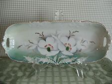 Vintage Beautiful DRESSER TRAY with Open Handles 11 34'' Long GERMANY Seafoam