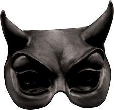 Devil Black Latex Half Mask