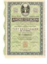 S.A. Andre Citroen  1937