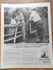 1959 Hartford Insurance Ad Homeowners Policy