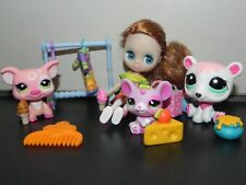Littlest Pet Shop treats shop Blythe doll B29 #2205 pig #2206 mouse #2298 bear