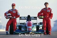 Rubens Barrichello & Eddie Irvine Jordan F1 Portrait 1994 Photograph