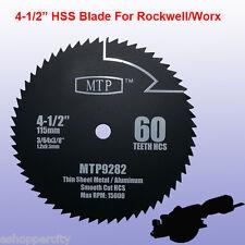 "4-1/2"" inch 60T HSS Metal Saw Blade for ROCKWELL RK3441K WORX RW9282"