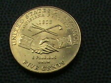 UNITED  STATES    5 Cents    2004   UNC   GOLD   PLATED  ,  PEACE  *
