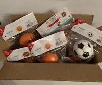 18 Piece Squeeze Squishy Sensory Toys Kids Stress Smoosh Splat Sports Balls NEW