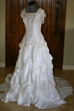 Wedding Gown S 10 NWT White Embellishments Lace Up Back Closure 900 Retail