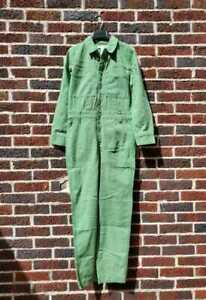 NEW WOMEN'S XS MADEWELL GARMENT DYED RELAXED COVERALL JUMPSUIT IN PALE EVERGREEN