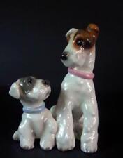 reizende Hundegruppe  Foxl Terrier - Goldscheider  Wien