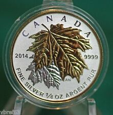 2014 CANADA $3 Silver Maple Leaf 1/4 oz Reverse proof from Fractional set