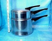 DOUBLE BOILER - INSERT POT & LID VINTAGE MIRRO 2 QT M-1802 USA FINEST ALUMINUM