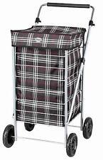Hoppa 4 Wheel Shopping Trolley Shopper Bag on Wheels Tubular Steel Frame