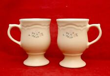 Pfaltzgraff REMEMBRANCE Set of Pedestal Coffee Mugs Cups