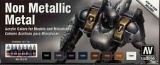 ACRYLIC PAINT SET VAL72212 - Vallejo Game Color Set - Non Metallic Metal