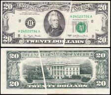 Scarce GUTTER FOLD Error note 1977 $20 St. Louis FRN! FREE SHIPPING! 20796A