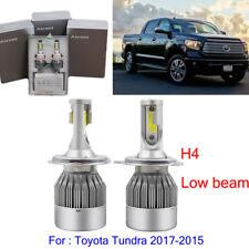 2Pcs H4 LED Headlight Kit Bulb For Toyota Tundra 2017-2015 Low Beam 6000K