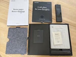reMarkable 2 Paper Tablet + Marker Plus + Premium Black Book Leather Folio: Mint