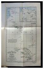1921 Forbes - LIBYAN DESERT - Kufara - SENUSSI MOSLEMS - Color Map - PHOTOS  8-9