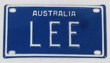 LEE NOVELTY NAME MINI TIN AUSTRALIAN LICENSE NUMBER PLATE