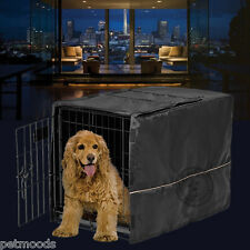 "Dog Crate Pet Cage Kennel COVER ONLY Black MidWest Quiet Time Breathable 30"" M"