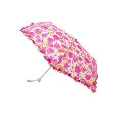Lulu Guinness Rose Print SuperSlim Umbrella by Fulton  - Large Range in Stock