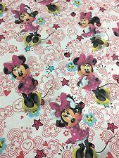 Minnie Mouse Lazo Rosa Corazón & Estrellas 100% Cotton Craft material de la tela por metro