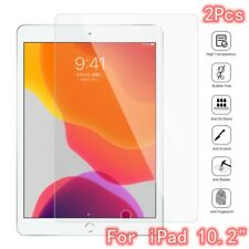 "2 Pcs Clear Tempered Glass Film For iPad 10.2"" 7th Gen Screen Protector Cover aa"