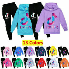 Kid Tik Tok Hoodie Pants Suit Boys Girls Long Sleeve Tracksuit Sportswear Casual