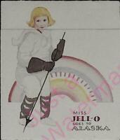 Vintage Jello Ad Miss Jell-o Goes to Alaska Rules and Neapolitan Recipe RARE!
