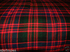 "Acrylic Tartan Fabric Width 53""  MacDonald 4 Yard 144' Long  & 53"" Multi Color"