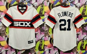 Chicago White Sox Tyler Flowers #21 MLB Baseball Shirt Jersey Majestic Mens S/M