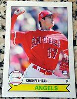 SHOHEI OHTANI 2018 Rookie Card RC Logo 1979 Style Los Angeles Angels Japan ROY