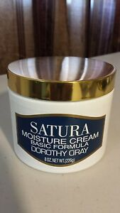 SATURA MOISTURE CREAM BASIC FORMULA DOROTHY GRAY 8 OZ MADE IN USA
