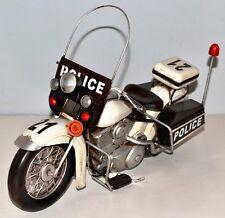 HD Polizei Motorrad Blechmotorrad Blechmodell Tin Model Vintage Bike 35 cm 37405