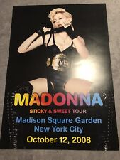 Madonna Sticky & Sweet Tour Rare Lithograph Madison Square Garden - MDNA