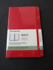 MOLESKINE WEEKLY NOTEBOOK DIARY / PLANNER 2020-21 A5 Softcover  Scharlachrot